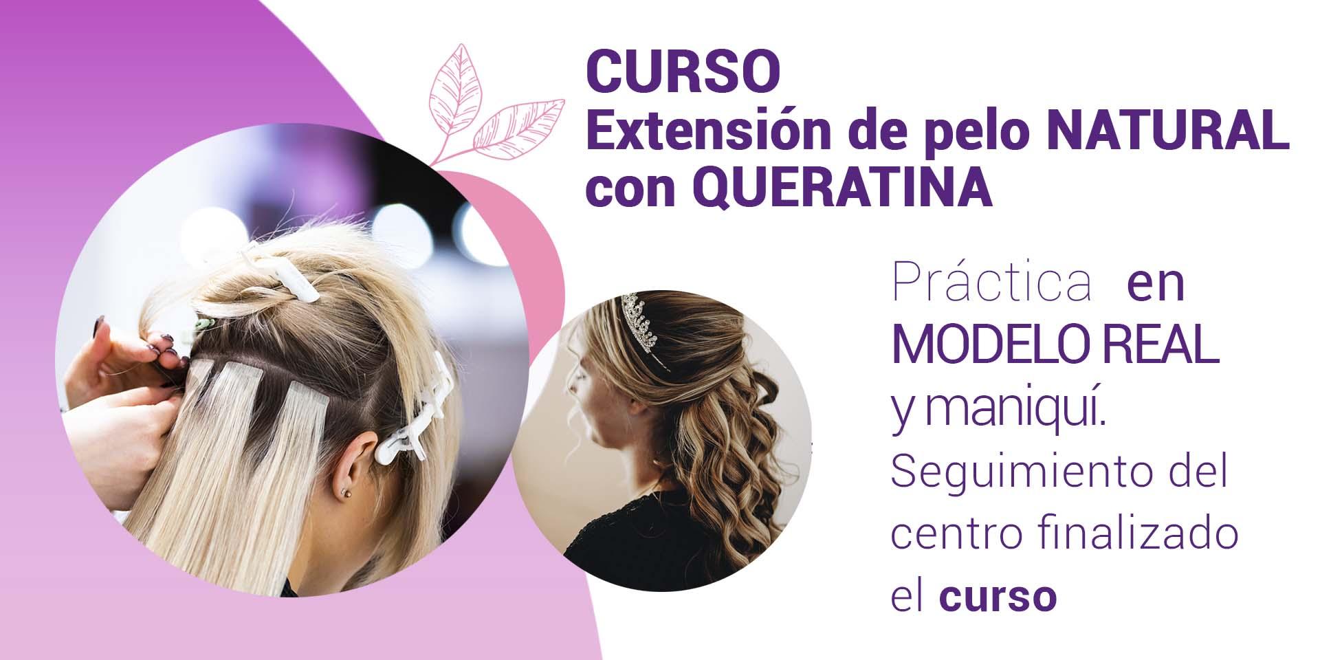 curso extensión cabello con queratina ELEGANCE ALICANTE 1